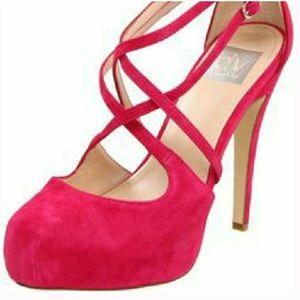 DV DOLCE VITA blair hot pink suede platform heels